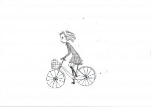 羊自転車立ち漕ぎ